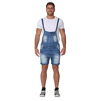 Men's Denim Dungaree Shorts Detachable bib denim walkshort Overall Shorts