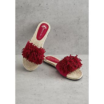 Red Tassel Sandal