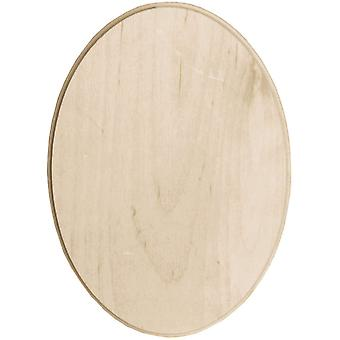 Baltic Birch Oval Plaque 5