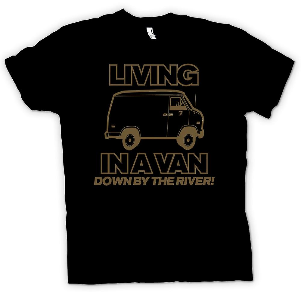 Kids T-shirt - Living In A Van, Down By The River - Quote