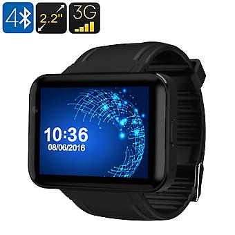 DM98 Watch Phone - Android OS, 1 IMEI, Bluetooth 4.0, WiFi, 3G Support, Built-In Mic, Speakers, Google Play, 1.3MP Cam  (Black)