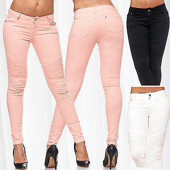 Ladies slim fit jeans trousers skinny tube jeans stretch low waist tube destroyed