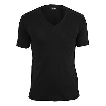 Maglietta con scollo a v tasca urbano classici