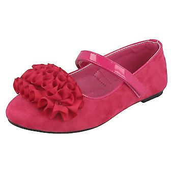 Girls Spot On Frill Trim Ballerinas H2448