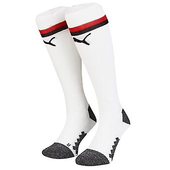 2018-2019 AC Milan Puma Home Football Socks (White)