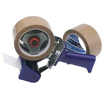 Draper Tp-Dis Hand-Held Packing Tape Dispenser Kit With Two Reels Of Tape