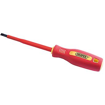 Draper 46524 5.5mm x 125mm Fully Insulated Plain Slot Screwdriver. (Sold Loose)