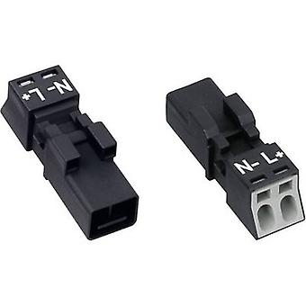 Mains connector WINSTA MINI Series (mains connectors) WINSTA MINI Plug, straight Total number of pins: 2 16 A White WAGO