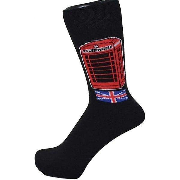 Union Jack Wear British Telephone Box Socks
