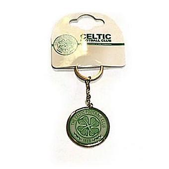 Celtic Fc Crest Large Metal / Enamel Keyring