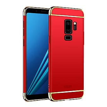 Cell phone cover case voor Samsung Galaxy S9 plus bumper 3 in 1 cover chroom geval rood