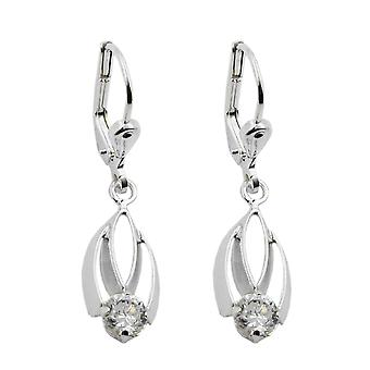 Silver Earring earrings of brisur with cubic zirconia white earrings 925 sterling silver