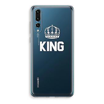 Huawei P20 Pro caja transparente (suave) - rey negro
