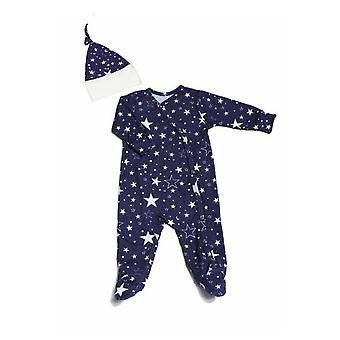 Everly Grey Baby Grey Baby Footie & Hat Set