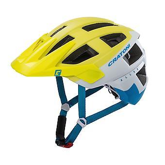 CRATONI AllSet Fahrradhelm // lime/weiß/blau matt