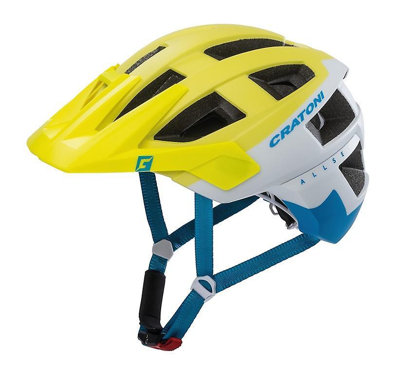Casque de vélo CRATONI AllSet     citron vert blanc bleu mat