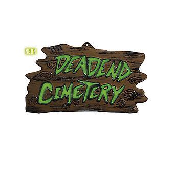 Cementerio de callejón sin salida de Neon 3D signo