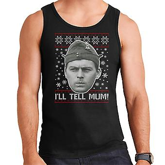 Dads Army Pike Tell Mum Christmas Knit Pattern Men's Vest