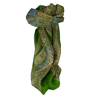 Mulberry Silk Classic Square Scarf Harisa Sage by Pashmina & Silk
