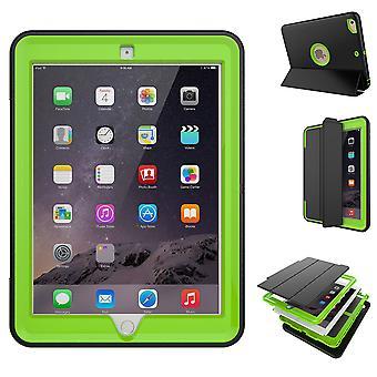Mehrteilige Hybrid Outdoor Schutzhülle Case Grün für Samsung Galaxy Tab A 10.5 T590 / T595 Tasche Wake UP 3folt
