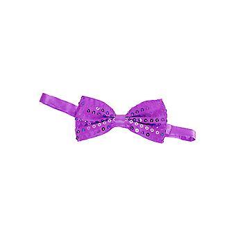 Łuki i krawaty muszki brokat fioletowy