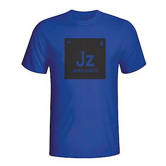 जेवियर Zanetti इंटर मिलान आवर्त सारणी टी शर्ट (ब्लू) - बच्चों