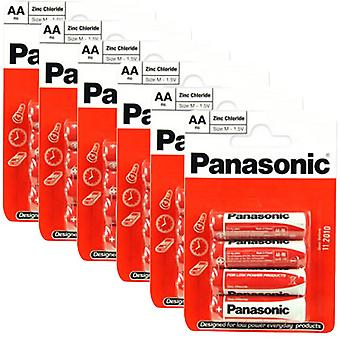 24 x Panasonic R6RZ-4BP AA Size Batteries