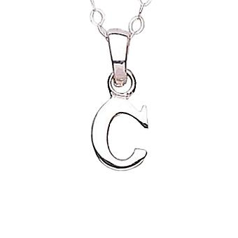 Jo For Girls Sterling Silver Initial 'C' Pendant Necklace 14