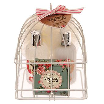 Body Collection Vintage Bouquet Small Birdcage Gift Set