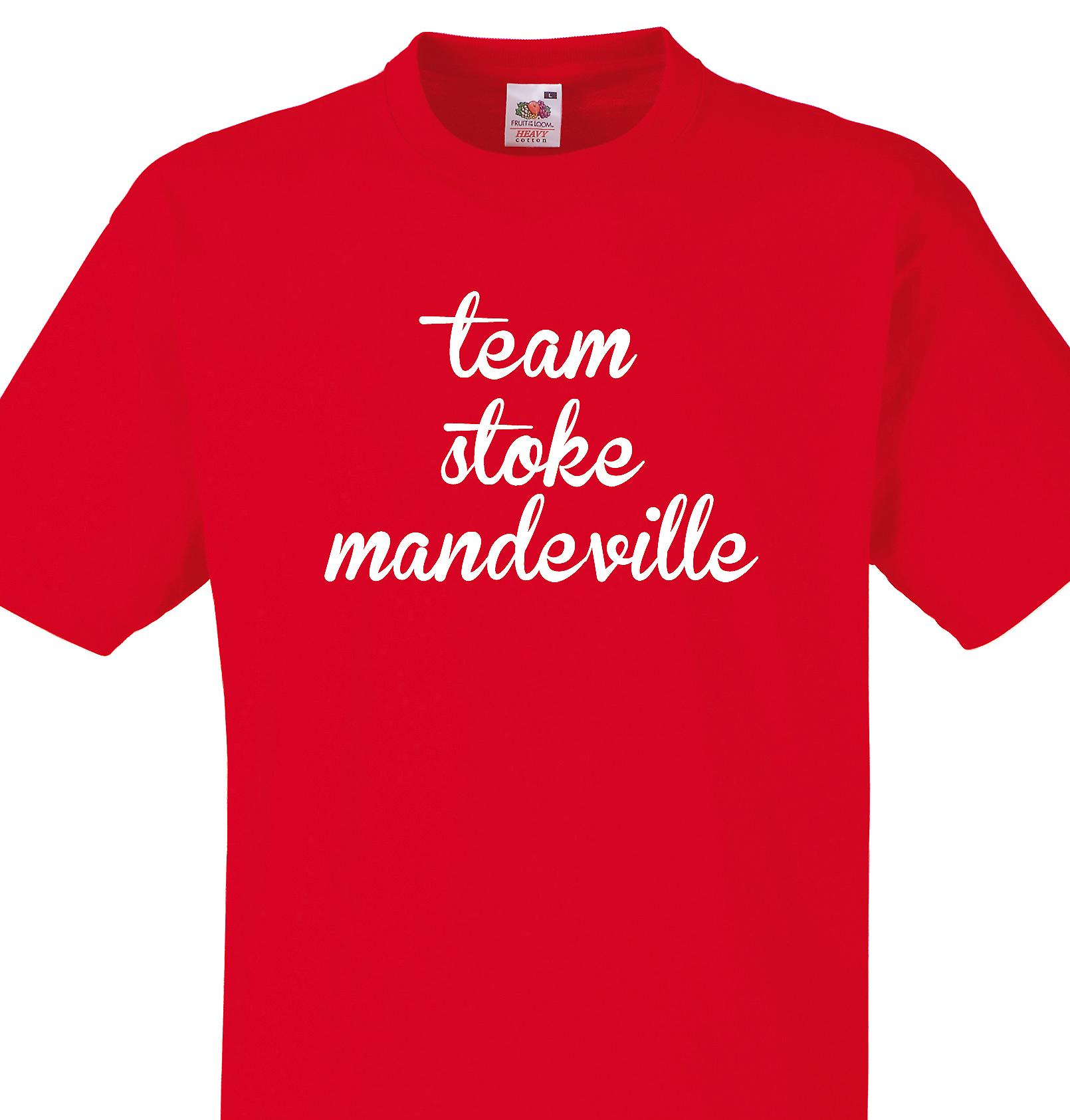 Team Stoke mandeville Red T shirt