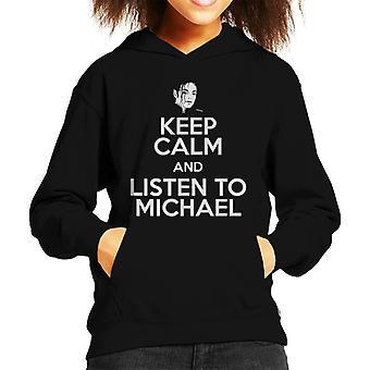 Keep Calm And Listen To Michael Jackson Kid's Hooded Sweatshirt