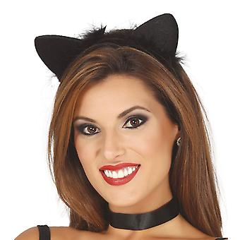 Womens Cat Ears Tiara cerchietto costume accessorio