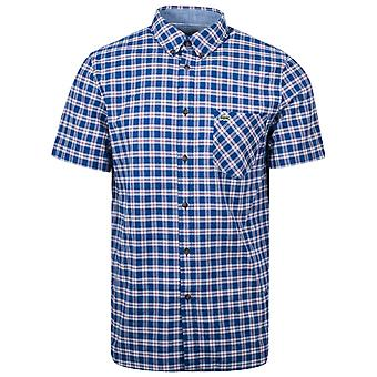 Lacoste Lacoste Regular Fit Short-Sleeved Checked Shirt