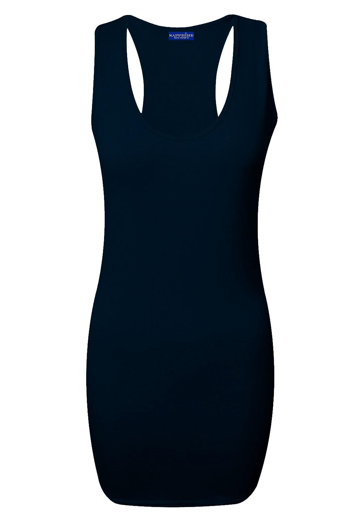Ladies Sleeveless Bodycon Racer Back Muscle All Colours Women's Vest Top