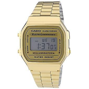 Casio digital watch with stainless steel band A168WG-9EF