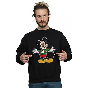 Disney Herren Mickey Mouse Christmas Sweatshirt Schlaganfall Sweatshirt