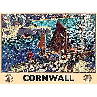 Cornwall Harbour GWR mosaic Steel Sign  (og 2015)