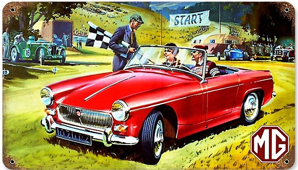 MG Midget rusted metal sign     (pst 148)