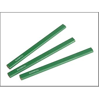CARPENTERS PENCILS - GREEN / HARD (PACK OF 3)