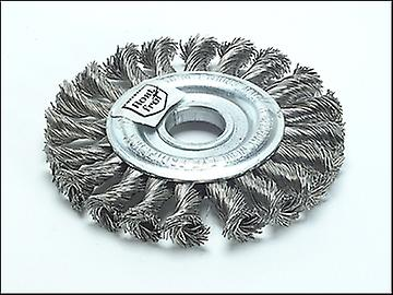 Lessmann Knot Wheel Brush 100mm x 12mm M14 x 0.50 Steel Wire