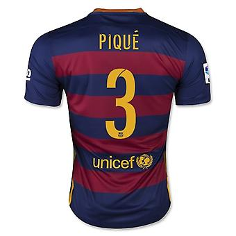 2015-16 Barcelona Home Shirt (Pique 3) - Kids
