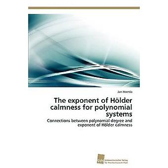 The exponent of Hlder calmness for polynomial systems by Heerda Jan