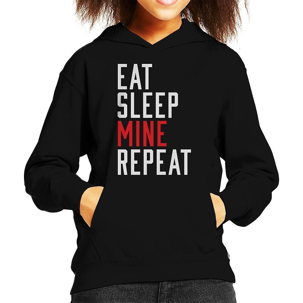 Eten slaap mij herhaal Kid's Hooded Sweatshirt