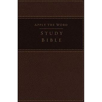 NKJV, Apply the Word Study Bible, Large Print, Imitation Leather, Brown, Red Letter Edition