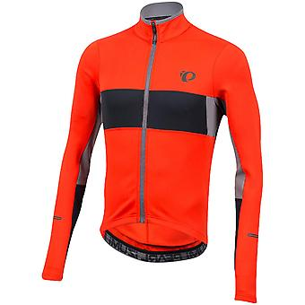 Pearl Izumi Orange-Black Elite Escape Thermal Long Sleeved Cycling Jersey