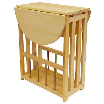 Haughton - Oberseite schwenkbar / Ende Tabelle mit Lagerregal - Natural