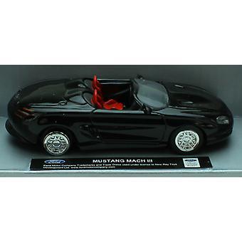 1:43 スケール ダイキャスト製黒フォード マスタング マッハ III 転換