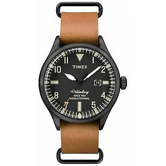 Timex Mens The Waterbury Light Brown Leather Strap TW2P64700 Watch
