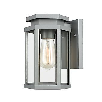 FrankLite Alfresco EXT6623 zewnętrzne światło ścienne w kolorze srebrnym szarym