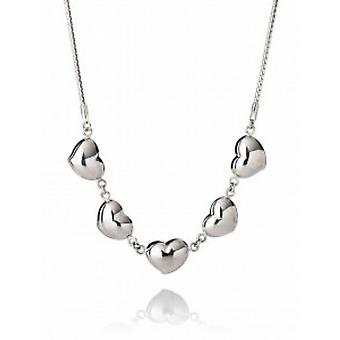 Cavendish French Full of Hearts Silver Necklace